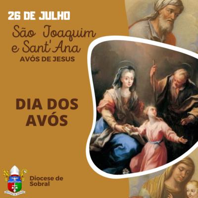 26 DE JULHO: DIA DE SÃO JOAQUIM E SANT'ANA